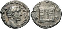 Ancient Coins - Divus Antoninus Pius, Issue by Aurelius & Verus, Large Altar