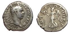 Ancient Coins - Trajan, 98 - 117 AD, Silver Denarius, Victory