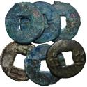 Ancient Coins - Warring States, State of Qin, Late Period, 336 - 221 BC, Lot of Six Ban Liangs