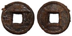 Ancient Coins - Liang Dynasty, Emperor Wu Di, 523 - 549 AD, Iron Wu Zhu