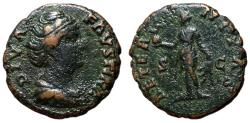 Ancient Coins - Diva Faustina Sr., after 141 AD, AE As, Aeternitas