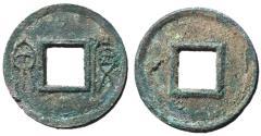 Ancient Coins - H9.32.  Xin Dynasty, Emperor Wang Mang, 7 - 23 AD, AE Five Zhu, 3rd Monetary Reform