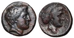 Ancient Coins - Thessaly, Phalanna, mid 4th Century BC, AE Dichalkon, ex BCD Collection