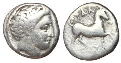 Ancient Coins - Thessaly, Phalanna, 350 - 340 BC, Silver Hemidrachm, ex BCD Collection