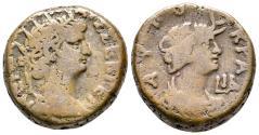 Ancient Coins - Nero, 54 - 68 AD, Tetradrachm of Alexandria, Bust of Alexandria