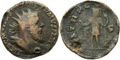 Ancient Coins - Postumus, 260 - 269 AD, Sestertius, Emperor in Military Garb