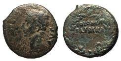 Ancient Coins - Augustus, 27 BC - 14 AD, AE As of Colonia Patricia