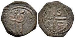 Ancient Coins - Crusader States, Antioch, Tancred, 1101 - 1112 AD, AE Follis
