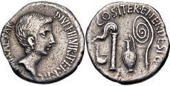 Ancient Coins - The Triumvirs, Octavian, 37 BC, Silver Denarius
