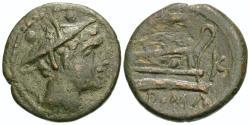 Ancient Coins - Roman Republic, Anonymous, 211 - 208 BC, AE Sextans, Sicilian Mint, ex RBW Collection