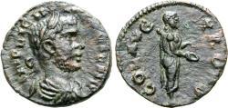 Ancient Coins - Gallienus, 253 - 268 AD, AE20, Alexandria Troas, Apollo Smintheus