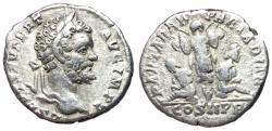 Ancient Coins - Septimius Severus, 193 - 211 AD, Silver Denarius, Bound Captives