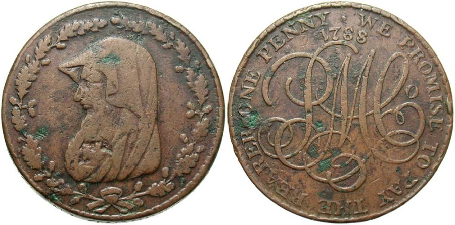 World Coins - Anglesey, Penny Token 1788, D&H141