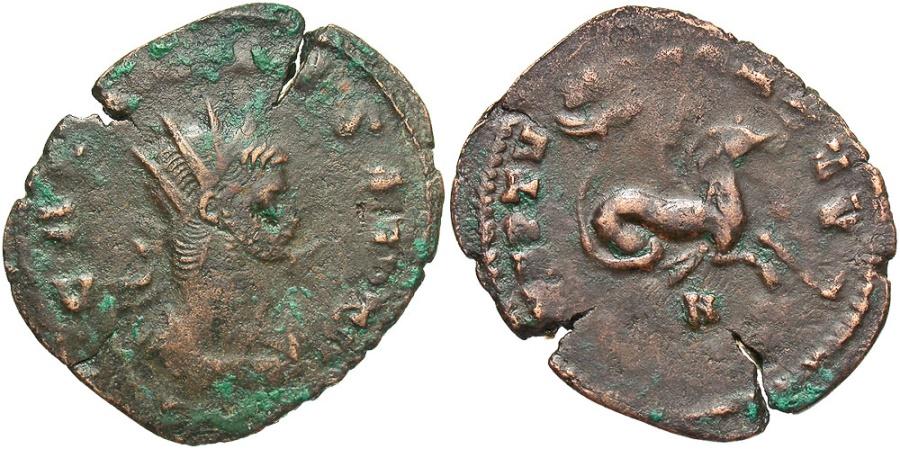 Ancient Coins - Gallienus, 253 - 268 AD, Antoninianus, Hippocamp