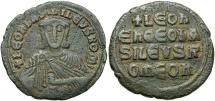 Ancient Coins - Leo VI, The Wise, 886 - 912 AD, AE Follis