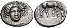 Ancient Coins - Thessaly, Larissa, 400 - 370 BC, Silver Drachm, ex BCD
