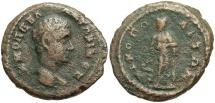 Ancient Coins - Diadumenian, 217 - 218 AD, AE18, Nicopolis, Asklepios