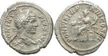Ancient Coins - Caracalla, 198 - 217 AD, Silver Denarius, Concordia