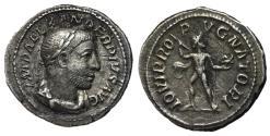 Ancient Coins - Severus Alexander, 222 - 235 AD, Silver Denarius, Jupiter