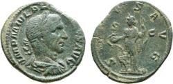 Ancient Coins - Philip I, 244 - 249 AD, Sestertius with Salus
