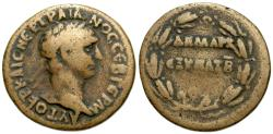 Ancient Coins - Trajan, 98 - 117 AD, AE Semis, Syrian Circulation