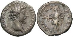 Ancient Coins - Marcus Aurelius, as Caesar, 139 - 161 AD, Silver Denarius, Virtus