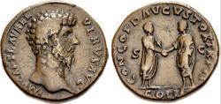 Ancient Coins - Lucius Verus, 161 - 169 AD, Sestertius