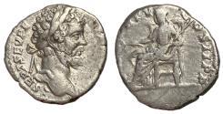 Ancient Coins - Septimius Severus, 193 - 211 AD, Silver Denarius, Pax