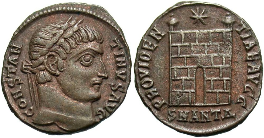Ancient Coins - Constantine I, 307 - 337 AD, Follis of Antioch