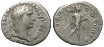Ancient Coins - Trajan, 98 - 117 AD, Silver Denarius, Mars