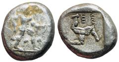 Ancient Coins - Pamphylia, Aspendos, 465 - 430 BC, Silver Stater, Part of Athenia Tetradrachm Hoard, Unpublished Type