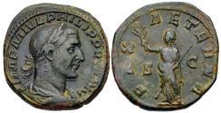 Ancient Coins - Philip I, 244 - 249 AD, Sestertius, Pax