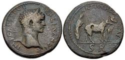 Ancient Coins - Severus Alexander, 222 - 235 AD, AE33 of Antioch, Foundation Scene, Rare