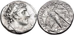 Ancient Coins - Seleukid Empire, Alexander I Balas, 152 - 145 BC, Silver Tetradrachm, Tyre Mint