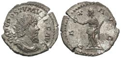 Ancient Coins - Postumus, 260 - 269 AD, Silver Antoninianus, Pax