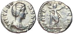 Ancient Coins - Julia Domna Silver Denarius with Venus