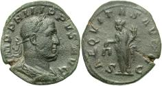 Ancient Coins - Philip I, 244 - 249 AD, Sestertius, Equity