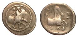 Ancient Coins - Thessaly, Trikka, 440 - 400 BC, Silver Hemidrachm