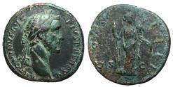 Ancient Coins - Antoninus Pius, 138 - 161 AD, Sestertius, Fortuna