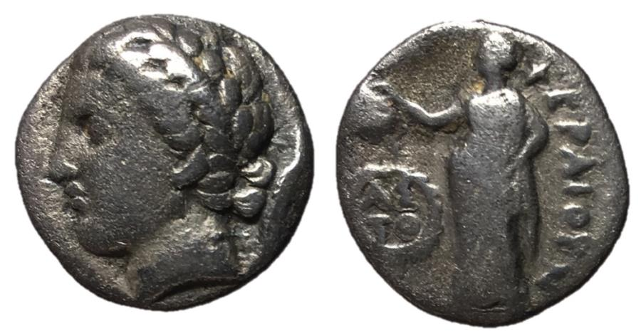 Ancient Coins - Thessaly, Pherai, 302 - 286 BC, Silver Hemidrachm