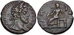 Ancient Coins - Commodus, 177 - 192 AD, Billon Tetradrachm of Alexandria, Zeus Enthroned