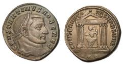 Ancient Coins - Constantine I, as Caesar, 306 - 307 AD, Follis of Rome