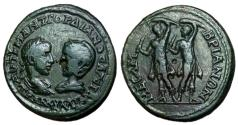 Ancient Coins - Gordian & Tranquillina, 238 - 244 AD, Dancing Curetes, Very Rare