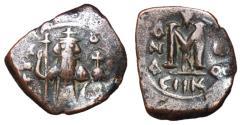 Ancient Coins - Constans II, 641 - 668 AD, Follis of Constantinople