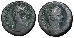 Ancient Coins - Nero, with Tiberius, 54 - 68 AD, Tetradrachm of Alexandria