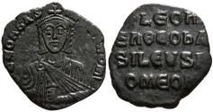 Ancient Coins - Leo VI, 886 - 912 AD, Follis of Constantinople