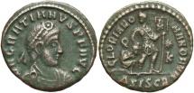 Ancient Coins - Gratian, 367 - 383 AD, AE17, Siscia