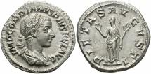 Ancient Coins - Gordian III, 238 - 244 AD, Silver Denarius, Pietas