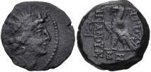 Ancient Coins - Seleukid Kingdom, Antiochos VIII, 121 - 96 BC, AE18, Eagle