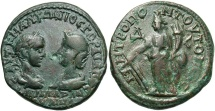 Ancient Coins - Gordian III & Tranquillina, 238 - 244 AD, Tetrassarion of Tomis, Tyche